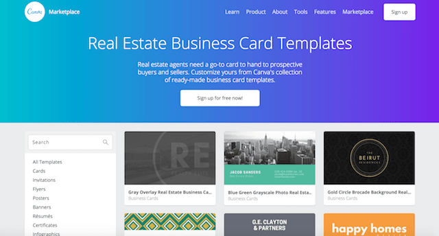 Real Estate Business Card Ideas Canva