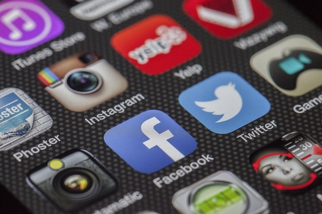 Real Estate Marketing Social Media Icons On Mobile