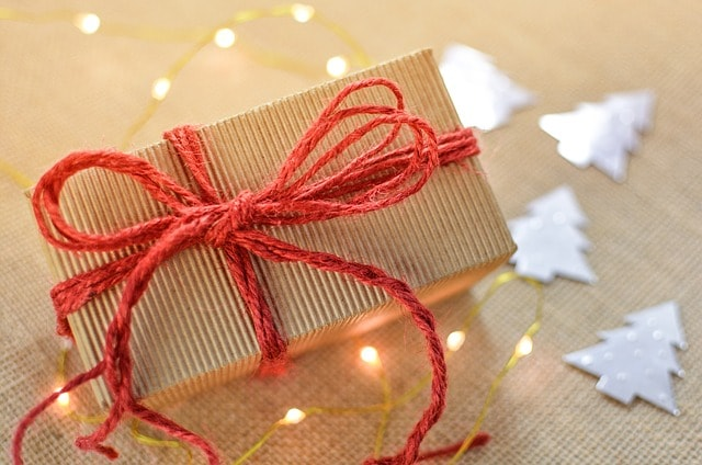 Red Bow Gift Box Illustrates Holiday Email Campaign