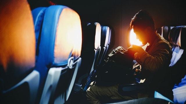 Remote Work Apps Sitting on Airplane