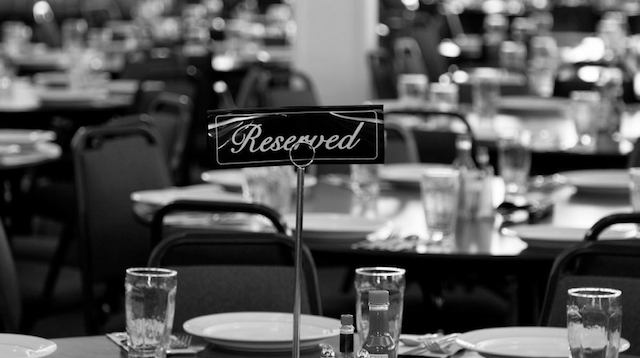 Restaurant Promotions Reserved Sign