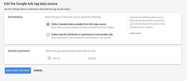 Retarget Website Visitors Ad Tag Data Source