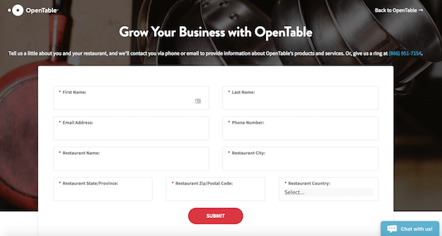Review Sites OpenTable