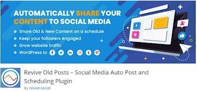 Revive Old Posts WordPressorg Banner