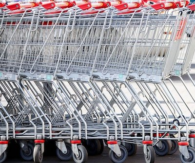 Row Of Nested Shopping Carts