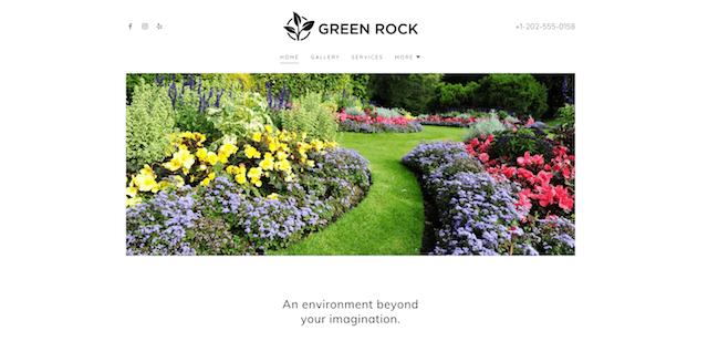 Sample GoDaddy Template Landscaping Business Website