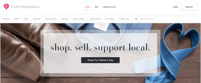 Scott's Marketplace Header Father's Day