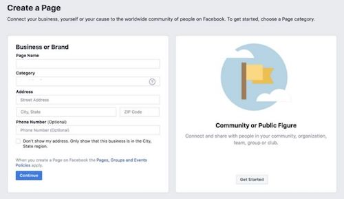 Screenshot Of Facebook Business Page Setup Step Two