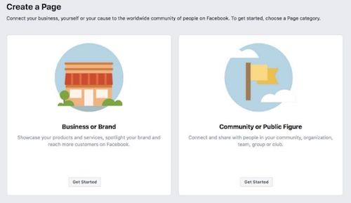 Screenshot Of Facebook Business Page Setup Step One