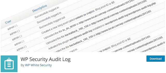 Security Logs WP Audit