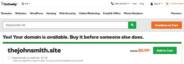 Self Branding Domain Example