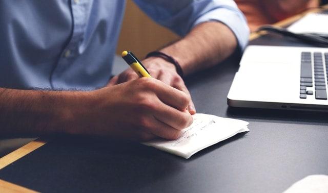 Self Care Tips Man Writing List