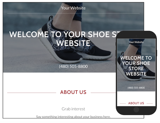 Sell Shoes Online GoCentral Template