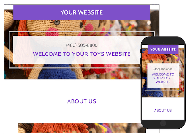 Sell Toys Online GoCentral Template