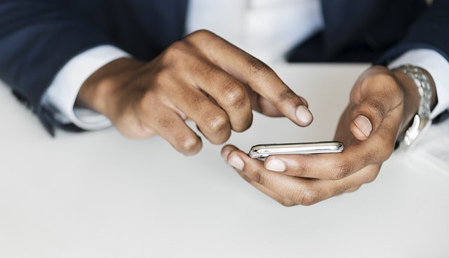 SEO Best Practices African American Male On Mobile