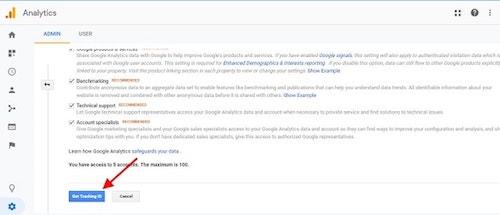 Set Up Google Analytics Tracking ID