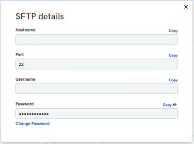Setting Up WordPress SFTP Details