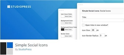 Simple Social Icons WordPressorg Banner