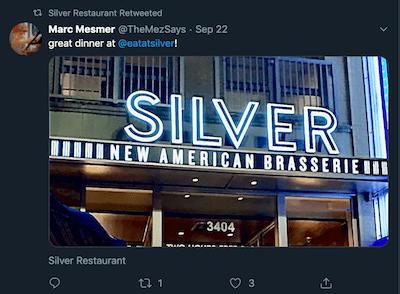 Silver Restaurant Retweet