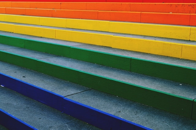 Small Business Financing Colorful Steps