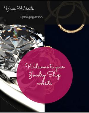 Small Business Website GoDaddy Jewelry Shop