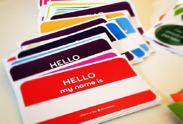 Social Media Customer Service Nametag