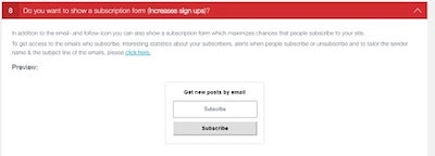 Social Media Share Buttons Newsletter Form