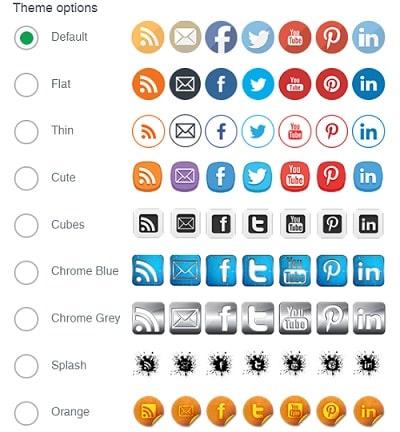 Social Media Share Theme Buttons