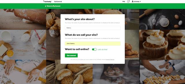 Start A Website Inside GoCentral