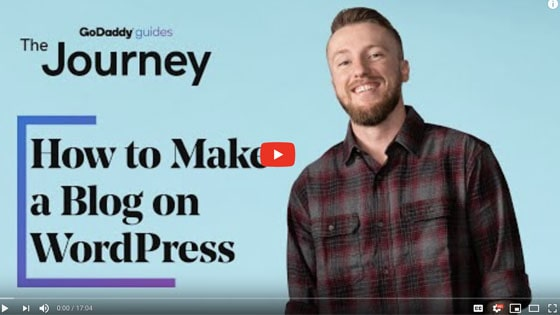 Starting A Blog WordPress Journey Video