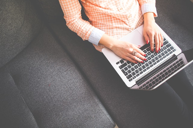 Starting Web Design Business Woman Typing