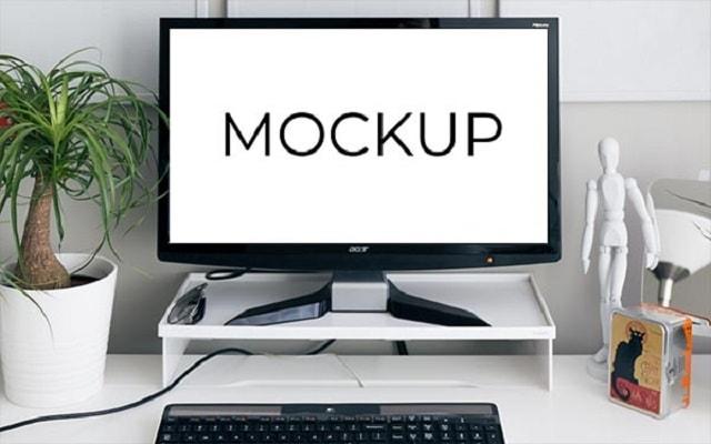 Stock Photography Mockup