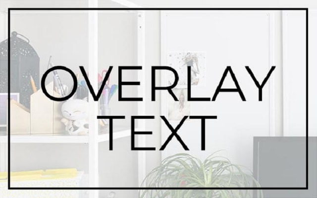 Stock Photography Overlay Text