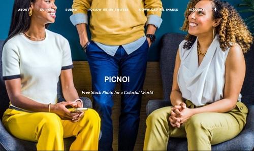 Picnoi Stock Photo Website Landing Page