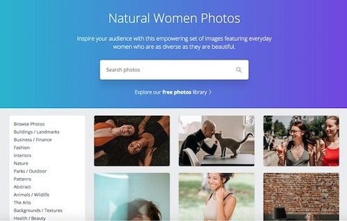 Stock Photos Women Canva Natural Woman Search