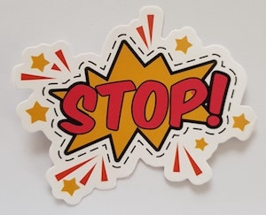 Stop Sticker Represents What Not to Include in Website Maintenance Plans
