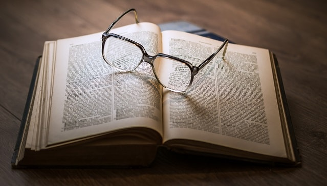 Dictionary Glasses Resting Glossary References