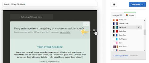 Style Options GoDaddy Email Marketing