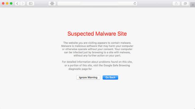 Suspected Malware Site