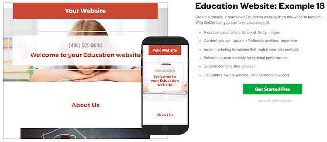 Teacher Websites GoCentral