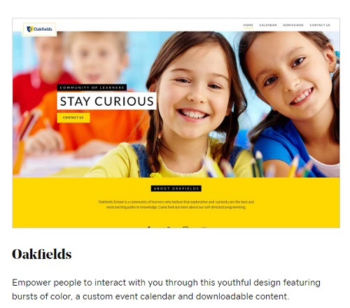 Example of GoDaddy Websites + Marketing Educational Template