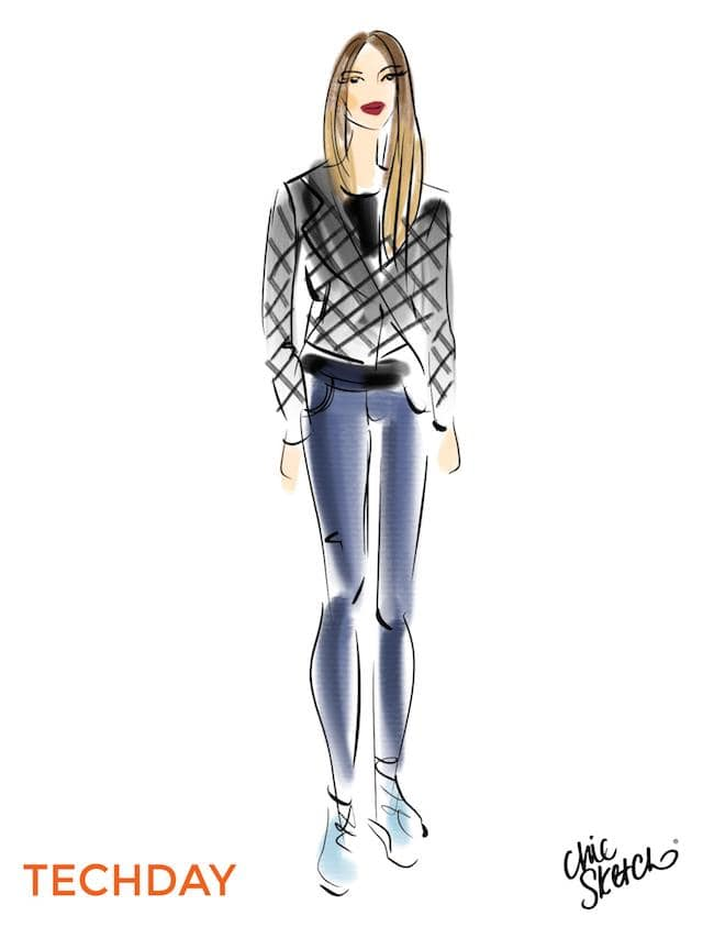 Tech Day Chic Sketch