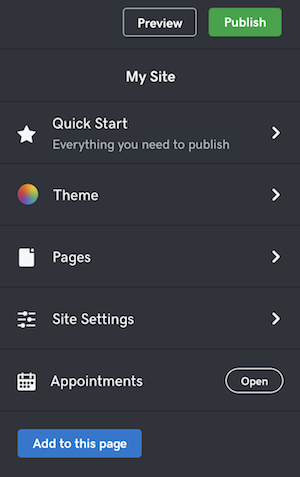 screenshot of where to find theme