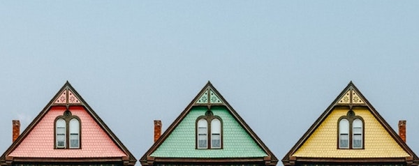 Three Roofs Represent Real Estate Competitors