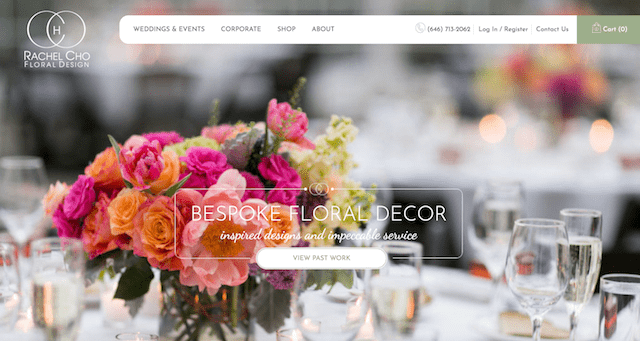 Title Tag Example Rachel Cho Floral Design Homepage