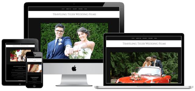 Traveling Tiger Wedding Films GoCentral Website