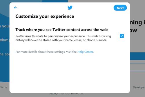 Twitter Customization Page