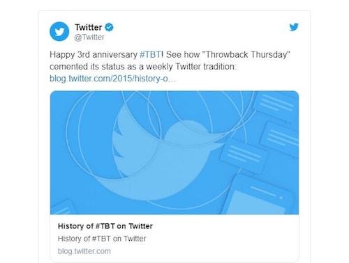 Twitter Example Summary Card