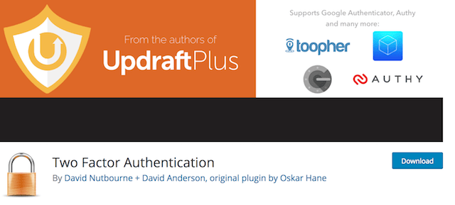 Two-Factor Authentication Updraft Plugin