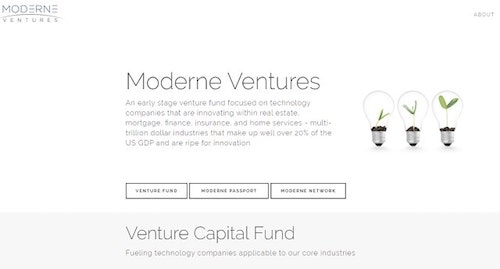 Venture Capital Financing Moderne Ventures Homepage